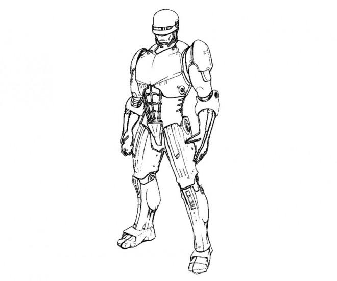 Coloriage et dessins gratuits Portrait de Robocop à imprimer