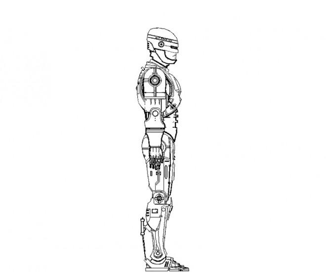 Coloriage et dessins gratuits Robocop à découper à imprimer