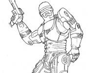 Coloriage et dessins gratuit Robocop Alex Murphy à imprimer