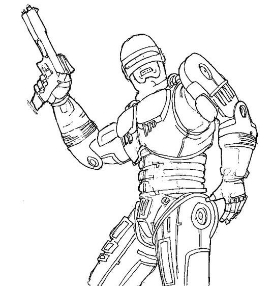 Coloriage et dessins gratuits Robocop Alex Murphy à imprimer