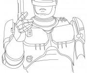 Coloriage et dessins gratuit Robocop en couleur à imprimer