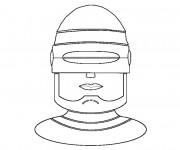 Coloriage et dessins gratuit Robocop en Ligne à imprimer