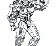 Coloriage et dessins gratuit Robocop Equipé à imprimer