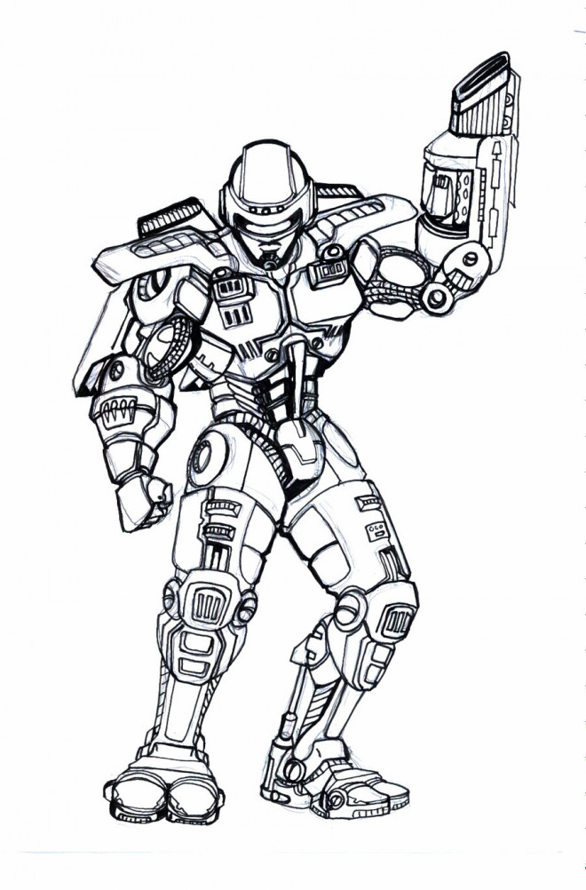 Coloriage et dessins gratuits Robocop Equipé à imprimer