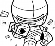 Coloriage Robocop facile