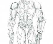 Coloriage et dessins gratuit Robocop Le Policier à imprimer
