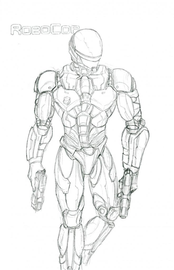 Coloriage et dessins gratuits Robocop Le Policier à imprimer
