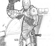 Coloriage et dessins gratuit Robocop réaliste à imprimer