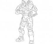 Coloriage et dessins gratuit Robocop stylisé à imprimer