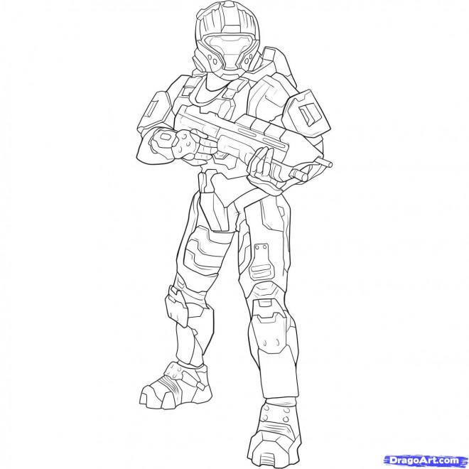 Coloriage et dessins gratuits Robocop stylisé à imprimer