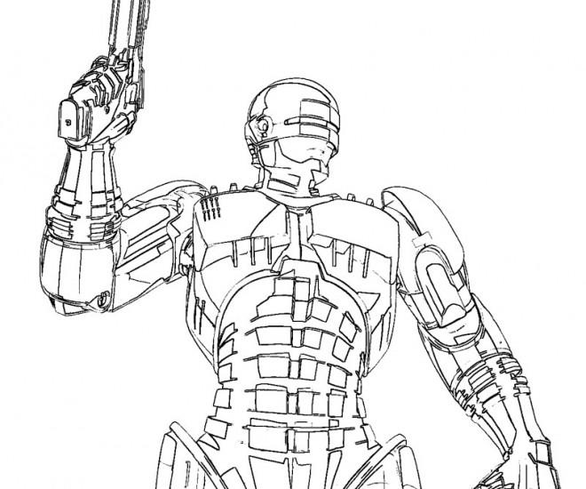 Coloriage et dessins gratuits Robocop Super Héro à imprimer