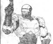 Coloriage et dessins gratuit Robocop sur ordinateur à imprimer