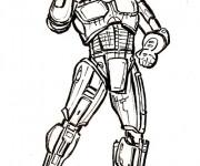 Coloriage et dessins gratuit Robocop vectoriel à imprimer