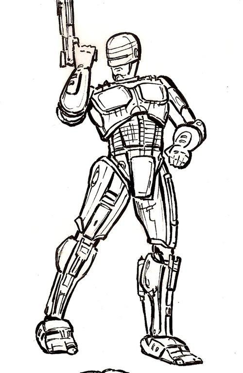 Coloriage et dessins gratuits Robocop vectoriel à imprimer