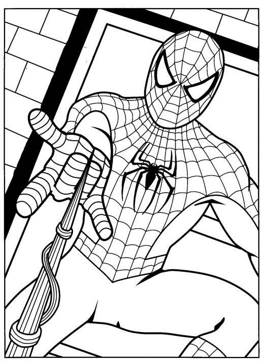 Coloriage et dessins gratuits Spiderman en couleur à imprimer