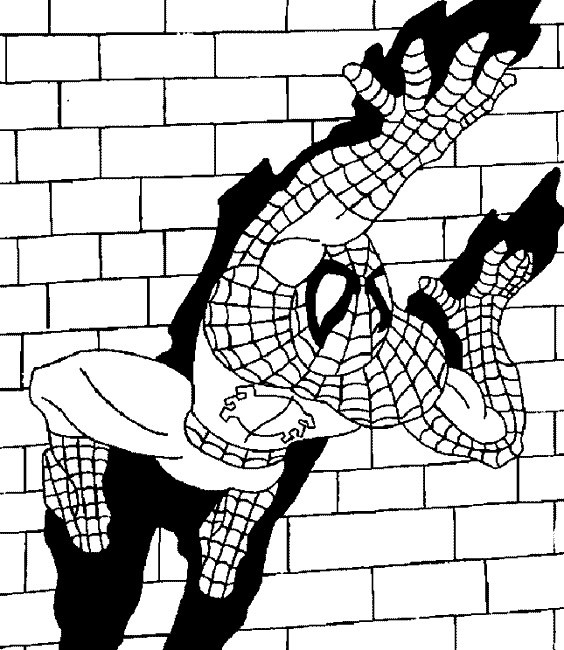 Coloriage spiderman escalade le mur dessin gratuit imprimer - Coloriage spiderman a imprimer ...