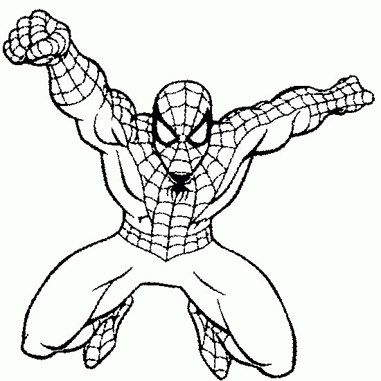 Coloriage Spiderman Facile Colorier Les Enfants Marnfozine Com