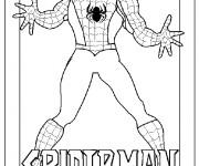 Coloriage Image de Spiderman pour découpage