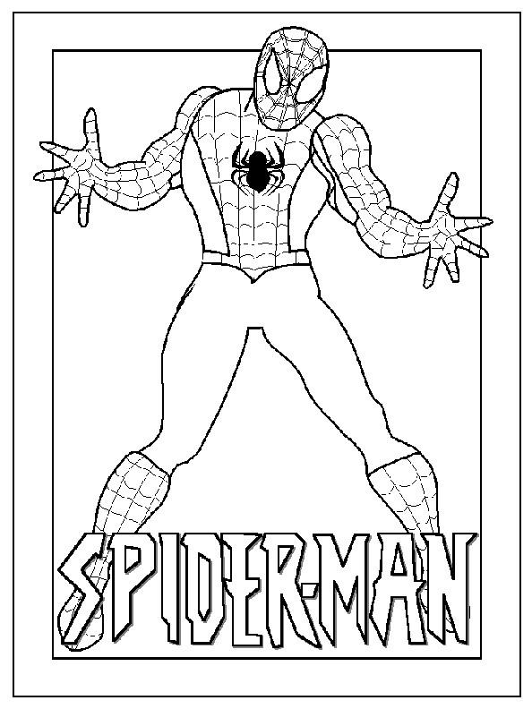 Coloriage et dessins gratuits Image de Spiderman pour découpage à imprimer