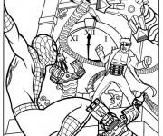 Coloriage Scène de Film Spiderman