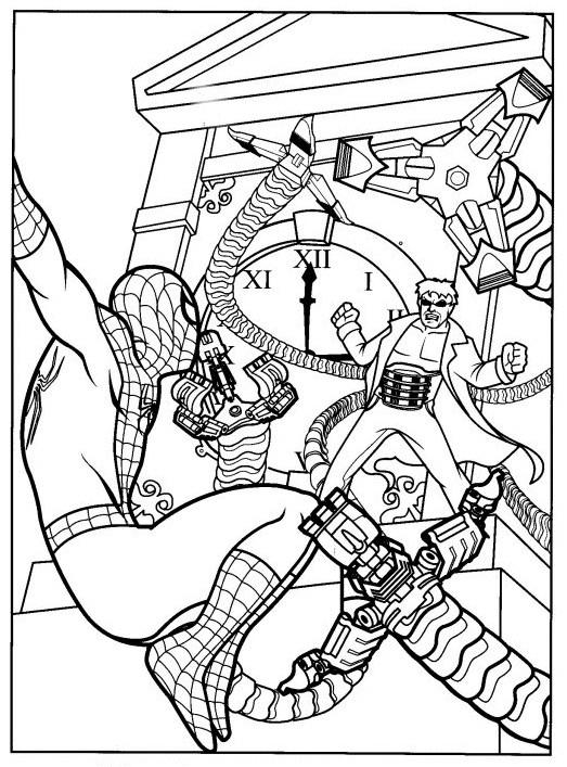 Coloriage et dessins gratuits Scène de Film Spiderman à imprimer