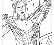 Coloriage dessin  Spiderman 16