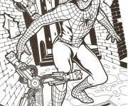 Coloriage dessin  Spiderman 8