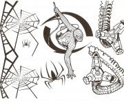 Coloriage et dessins gratuit Spiderman à découper à imprimer
