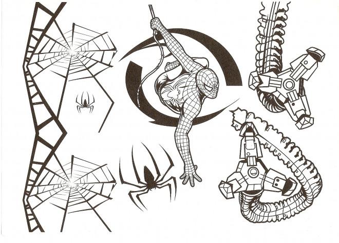 Coloriage et dessins gratuits Spiderman à découper à imprimer