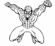 Coloriage Spiderman à l'assaut