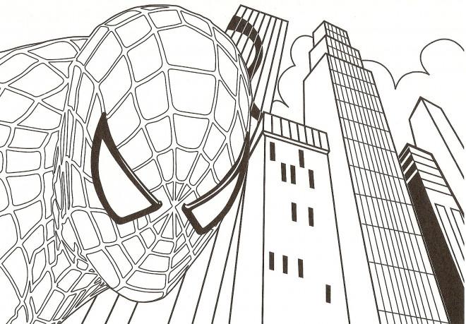 Coloriage spiderman de retour dessin gratuit imprimer - Coloriage spiderman portrait ...