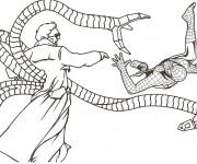 Coloriage Spiderman et L'ennemi