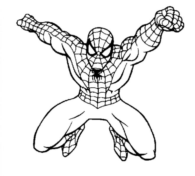 Coloriage spiderman facile dessin gratuit imprimer - Dessiner spiderman facile ...