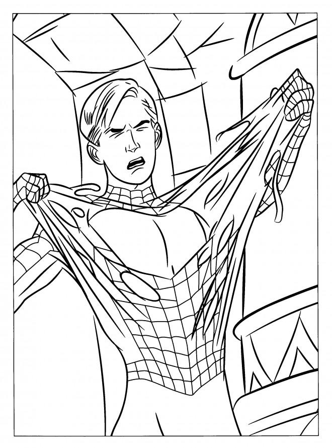 Coloriage et dessins gratuits Spiderman Héro à imprimer