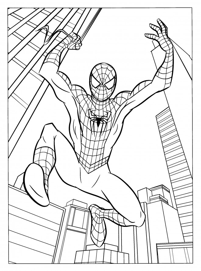Coloriage spiderman homecoming dessin gratuit imprimer - Coloriage spiderman imprimer ...