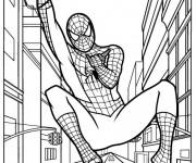 Coloriage Spiderman lanceur de Toile