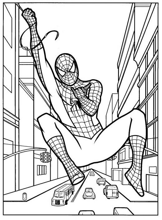 Coloriage Spiderman Lanceur De Toile Dessin Gratuit A Imprimer