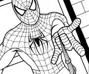 Coloriage Spiderman masqué