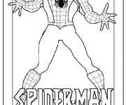 Coloriage Spiderman ouvre ses bras