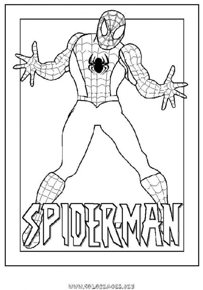 Coloriage et dessins gratuits Spiderman ouvre ses bras à imprimer
