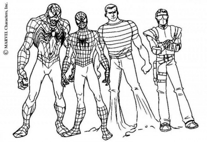 Coloriage Spiderman Personnages