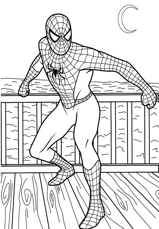 Coloriage Spiderman Super Hero Dessin Gratuit A Imprimer