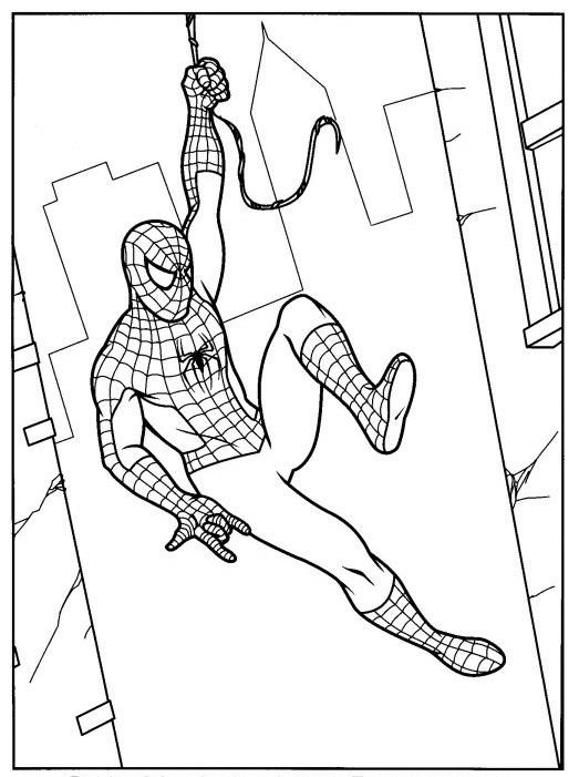 Coloriage spiderman sur les murs dessin gratuit imprimer - Coloriage spiderman portrait ...