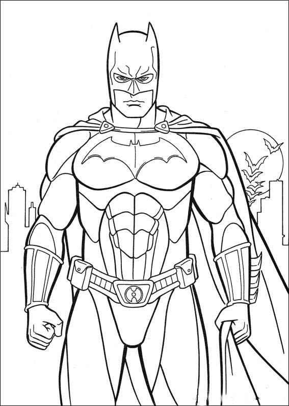 Coloriage Batman Kawaii.Coloriage Super Hero Batman Dessin Gratuit A Imprimer