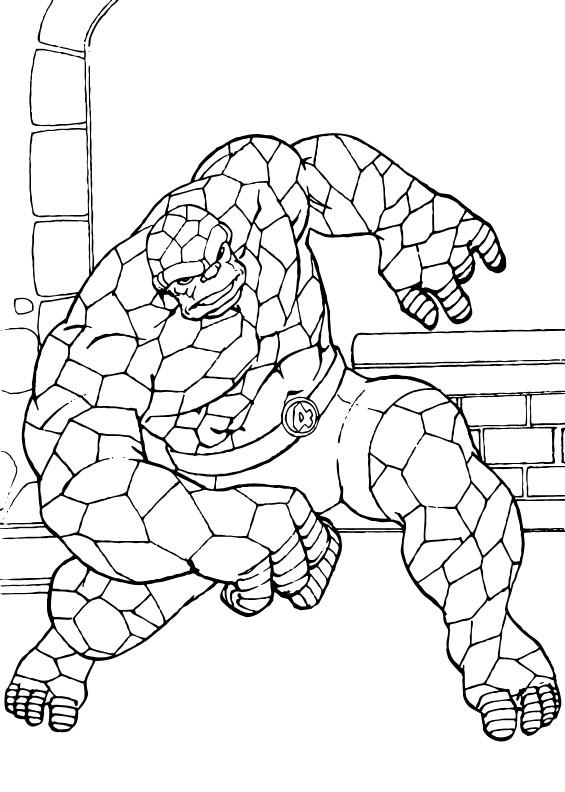 Coloriage et dessins gratuits Super Héro stylisé à imprimer
