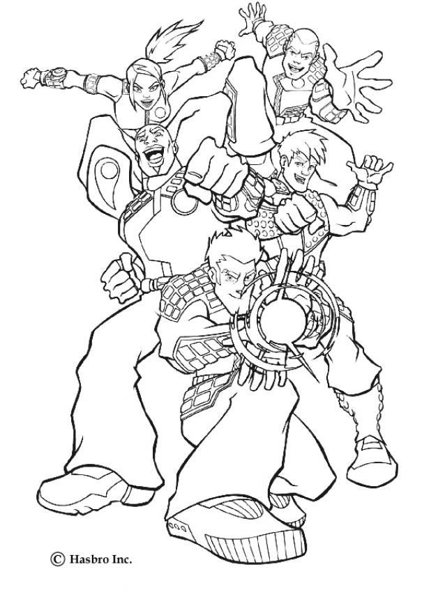 Coloriage et dessins gratuits Super Héros dessin animé à imprimer