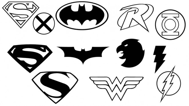 Coloriage super h ros logos dessin gratuit imprimer - Dessin de super heros fille ...