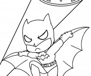 Coloriage et dessins gratuit Batman enfant à imprimer