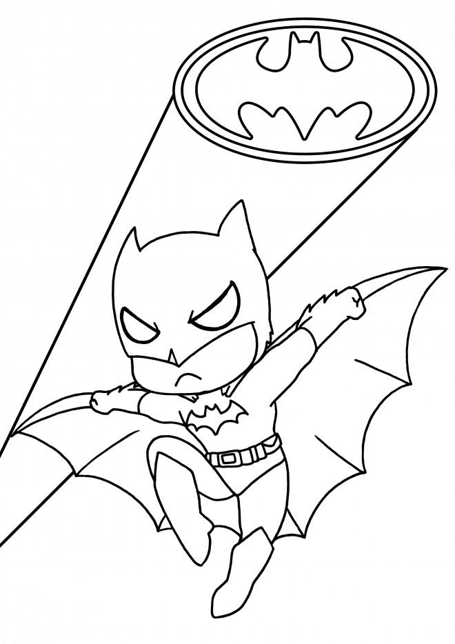 Coloriage Batman Enfant Dessin Gratuit A Imprimer