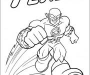 Coloriage et dessins gratuit Flash Superhéro à imprimer